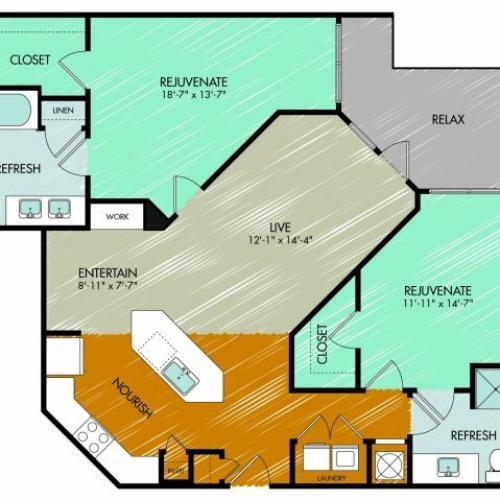 Floor Plan 22 | 909 Flats