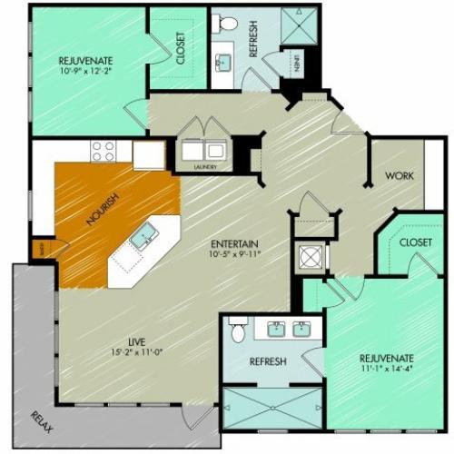 Floor Plan 24 | 909 Flats
