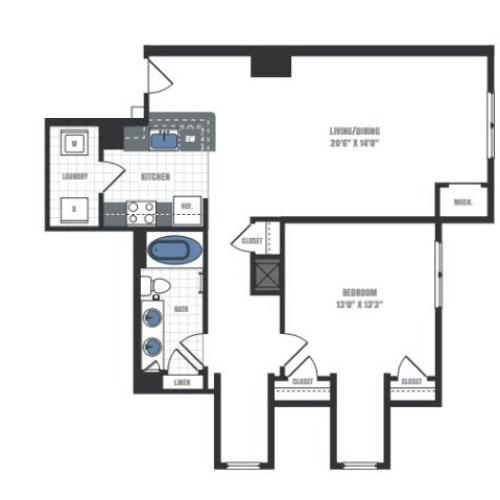 Floor Plan 6 | Eastside Flats