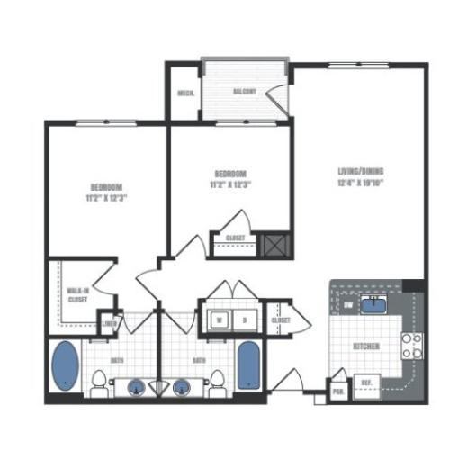 Floor Plan 22 | Eastside Flats