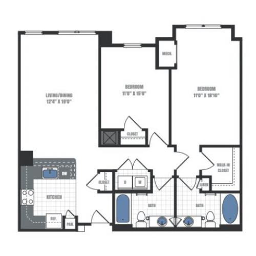 Floor Plan 12 | Eastside Flats