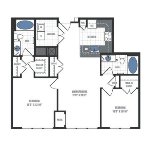 Floor Plan 13 | Eastside Flats