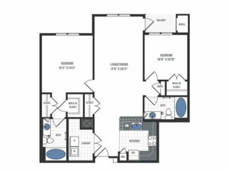 Floor Plan 15 | Eastside Flats