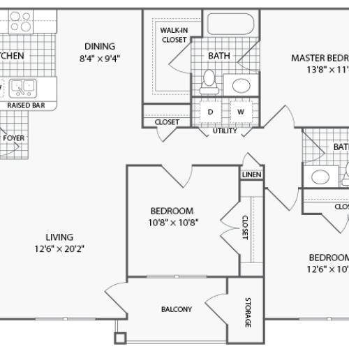 2 Bed / 2 Bath Apartment In Grand Prairie TX