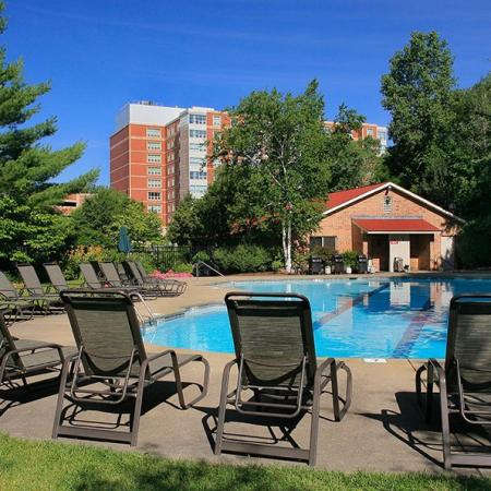 Sparkling Pool | Apartments for rent in Burlington, MA | Kimball Towers