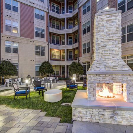 Residents Gathering by the Fire | Apartments In Charlotte | LaVie SouthPark
