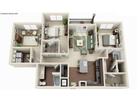 B1B - 2 BEDROOM WITH DEN 2 BATH
