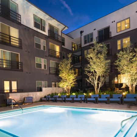 Residents Floating in the Pool | Austin TX Apartment For Rent | Gallery at Domain