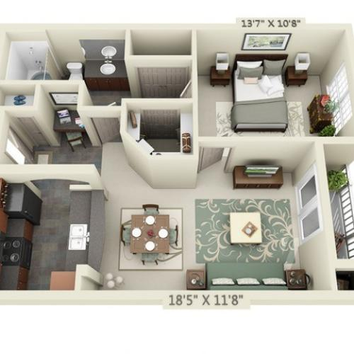 Floor Plan 1 | The Lodge at Lakecrest