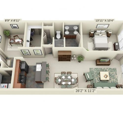 Floor Plan 2 | The Lodge at Lakecrest