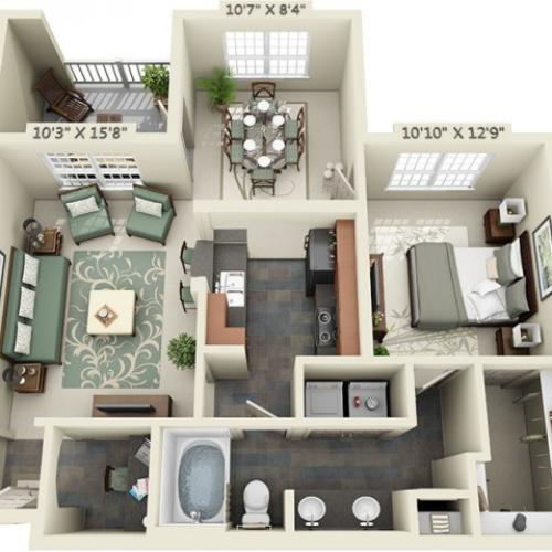 Floor Plan 3 | The Lodge at Lakecrest