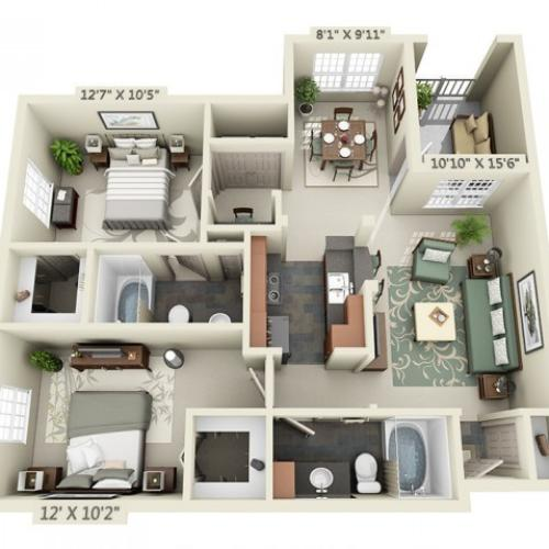 Floor Plan 5 | The Lodge at Lakecrest