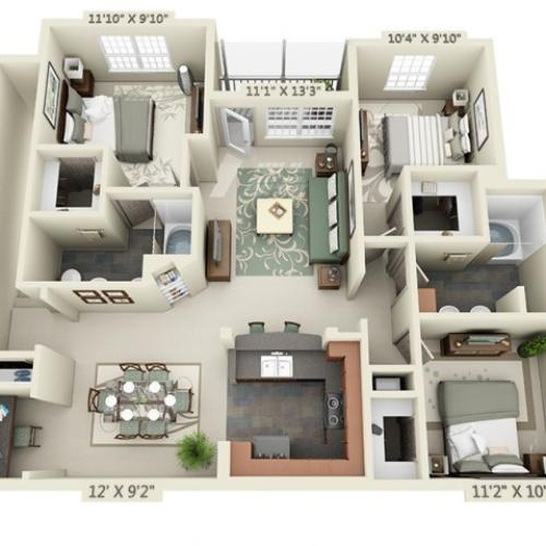 Floor Plan 12 | The Lodge at Lakecrest