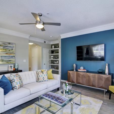 Spacious Living Room | Apartments in Atlanta, GA | Aspire Lenox Park