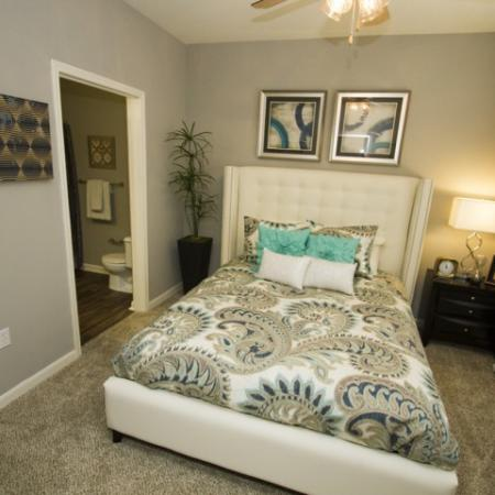 Master bedroom with en suite bathroom