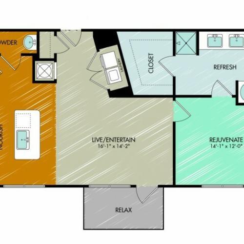 Floor Plan 12 | 909 Flats
