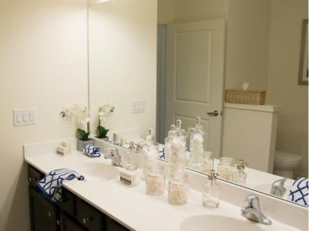 Spacious Master Bathroom | Somerville Apartments NJ | Queens Gate