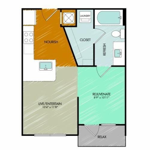 Floor Plan | 909 Flats