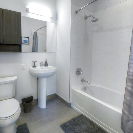 Elegant Master Bathroom | Apartments Hoboken, NJ | 1125 Jefferson