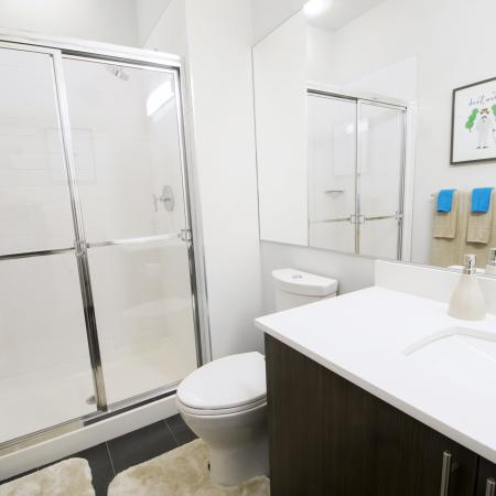 Spacious Master Bathroom | Apartments Homes for rent in Hoboken, NJ | 1125 Jefferson