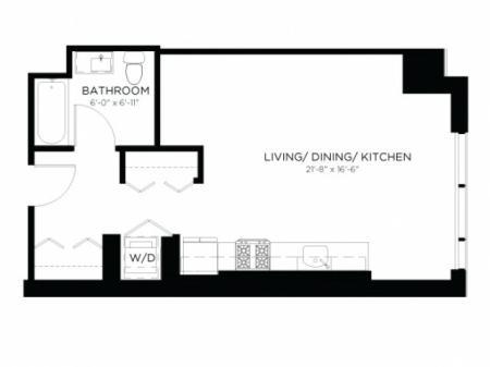 Studio Floor Plan SA