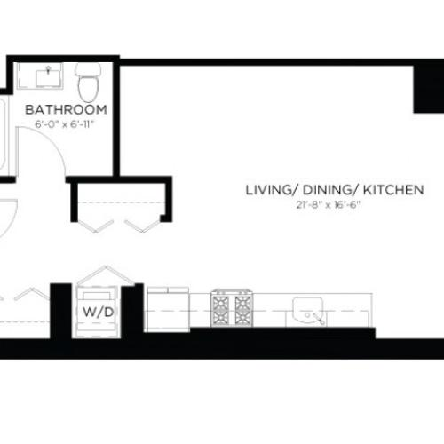 Studio Floor Plan SA