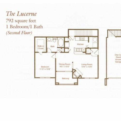 Floorplan 1 | St. Moritz Apartments