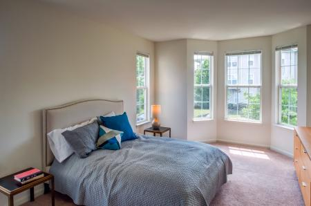 Bay windows in select apartment homes