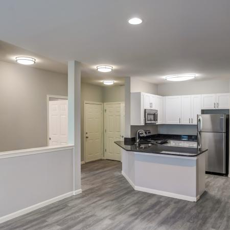 Newly renovated apartment homes