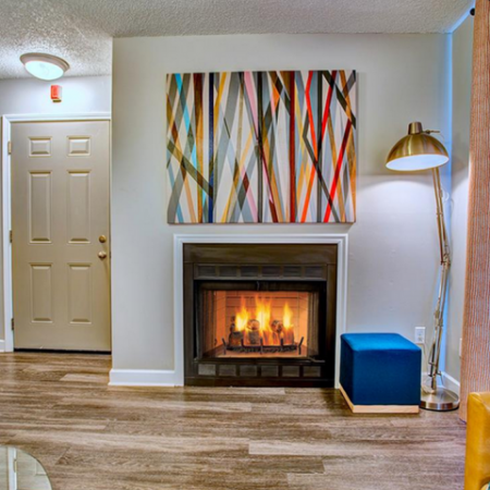 Spacious Living Room with Fireplace | Apartments in Nashville, TN | Bellevue West