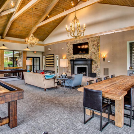 Community Game Room with Billiards and Shuffleboard | | Apartments in Nashville, TN | Bellevue West