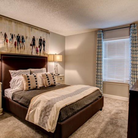 Spacious Master Bedroom with Plush Carpeting | Apartments Homes for rent in Nashville, TN | Bellevue West