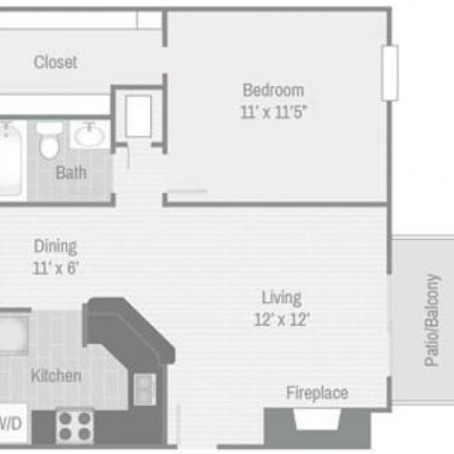 Floor Plan 1 | Nashville Apt | Bellevue West