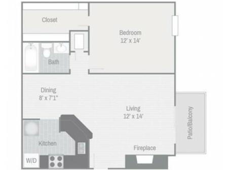 Floor Plan 3 | Nashville Apt | Bellevue West