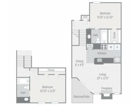 Floor Plan 5 | Nashville Apt | Bellevue West