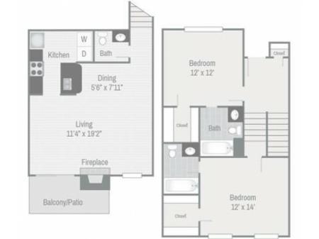 Floor Plan 6 | Nashville Apt | Bellevue West