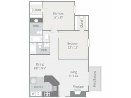Floor Plan 7 | Nashville Apt | Bellevue West