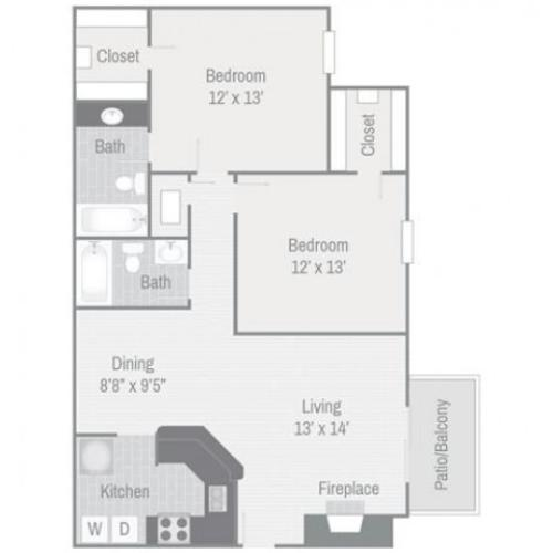 Floor Plan 7 | Nashville Apt | Bellevue West