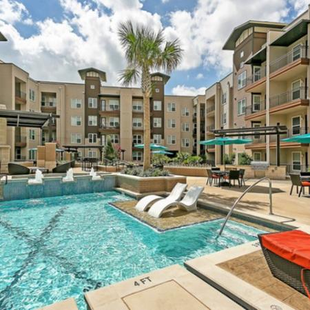 Year Round Swimming Pool | Apartment in Las Colinas, TX | Alexan Las Colinas