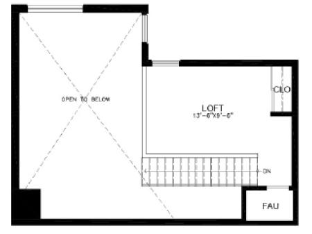 2 bed/2 bath Loft B4