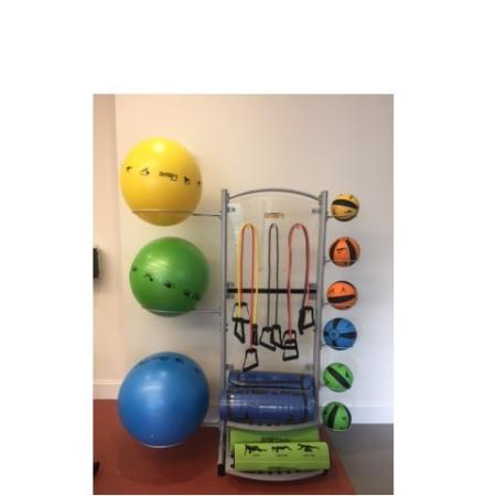 Fitness Center Equipment including large fitness balls, activity mats, medicine balls at Monterey Pointe Fitness Center
