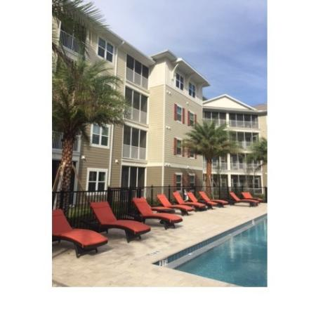 Pool and Lounge Chairs at Monterey Pointe Apartments