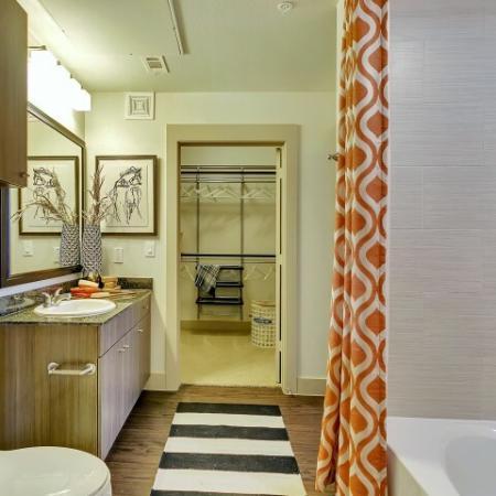 Spacious Master Bathroom | Apartments Homes for rent in Las Colinas, TX | Alexan Las Colinas