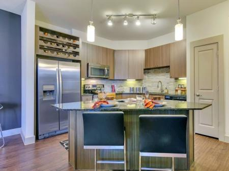 Modern Kitchen | Las Colinas TX Apartment For Rent | Alexan Las Colinas