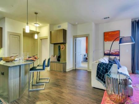 Spacious Living Room | Apartments in Las Colinas, TX | Alexan Las Colinas