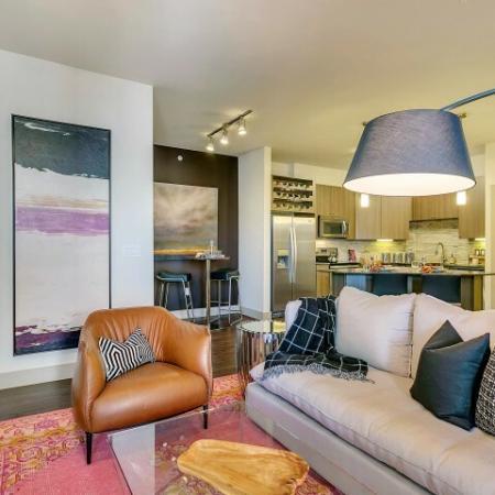 Elegant Living Room | Apartments for rent in Las Colinas, TX | Alexan Las Colinas