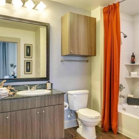 Elegant Bathroom | Apartments in Las Colinas, TX | Alexan Las Colinas