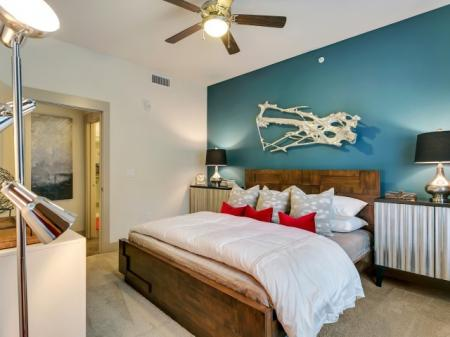 Elegant Bedroom | Las Colinas TX Apartment For Rent | Alexan Las Colinas