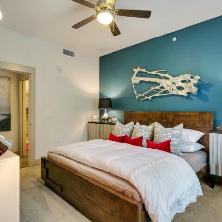 Elegant Bedroom | Las Colinas TX Apartment For Rent | Alexan Las Colinas