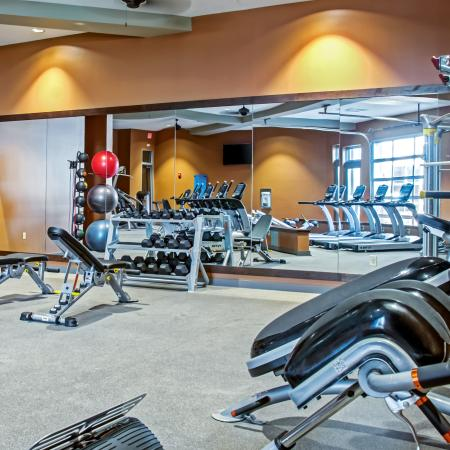 24 Hour Fitness Center | Station 40 Apartments